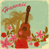 Cartolina del Hawaiian dell'annata Fotografia Stock