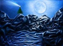 Cartolina dell'albero di Natale Fotografia Stock Libera da Diritti