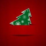 Cartolina dell'albero di Natale Fotografia Stock