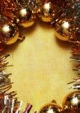 Cartolina dell'oro di natale Immagini Stock Libere da Diritti