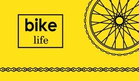 Cartolina della bici della ruota Fotografia Stock Libera da Diritti