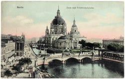 Cartolina della cattedrale di Berlino Immagine Stock