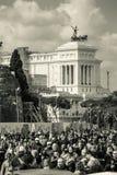 Cartolina della città di Roma, Italia monumento Fotografia Stock