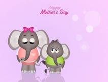 Cartolina della festa della mamma Fotografia Stock