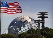 Cartolina della fiera del mondo di NYC Immagine Stock Libera da Diritti