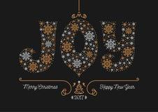 Cartolina 2017 di affari della cartolina d'auguri del buon anno di Buon Natale Fotografia Stock