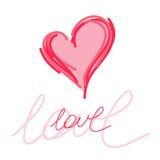 Cartolina di amore Fotografia Stock Libera da Diritti