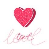 Cartolina di amore Fotografia Stock