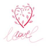 Cartolina di amore Immagini Stock
