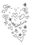 Cartolina di amore del biglietto di S. Valentino Immagine Stock