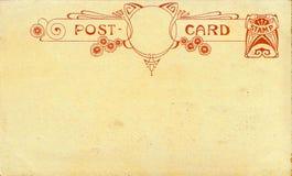 Cartolina di art deco immagini stock