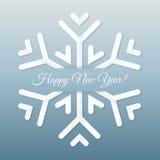 Cartolina di carta del fiocco di neve. Immagini Stock