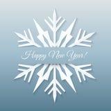Cartolina di carta del fiocco di neve. Fotografia Stock Libera da Diritti