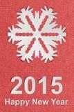 Cartolina di carta strutturata d'annata del nuovo anno con carta vera Fotografia Stock Libera da Diritti