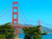 Cartolina di golden gate bridge San Francisco Immagine Stock