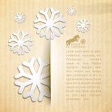 Cartolina di inverno. Immagine Stock