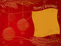 Cartolina di Natale Immagine Stock