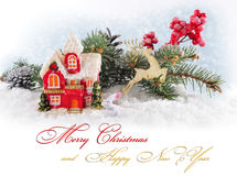 Cartolina di Natale. Immagine Stock Libera da Diritti