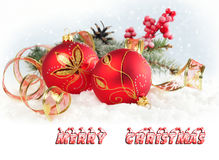 Cartolina di Natale. Fotografie Stock Libere da Diritti