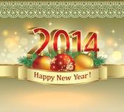 Cartolina di Natale 2014 Fotografia Stock