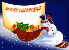 Cartolina di Natale 4 illustrazione vettoriale