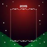 2015 - Cartolina di Natale Fotografie Stock