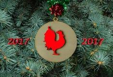 Cartolina di Natale 2017 Immagine Stock Libera da Diritti