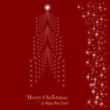 Cartolina di Natale. Albero di Natale. Illustrazione di vettore Fotografie Stock Libere da Diritti