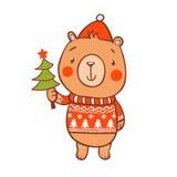 Cartolina di Natale alla moda dentro Immagine Stock