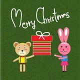 Cartolina di Natale alla moda nel vettore Fotografie Stock