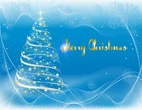 Cartolina di Natale allegra illustrazione vettoriale