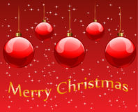 Cartolina di Natale allegra Fotografia Stock Libera da Diritti