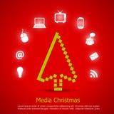 Cartolina di Natale allegra Fotografia Stock