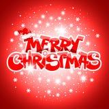 Cartolina di Natale allegra Immagini Stock Libere da Diritti