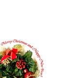 Cartolina di Natale allegra Immagini Stock