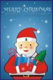 Cartolina di Natale allegra Immagine Stock Libera da Diritti