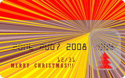 Cartolina di Natale allegra di vettore Fotografia Stock Libera da Diritti