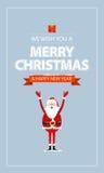 Cartolina di Natale allegra di vettore Fotografia Stock