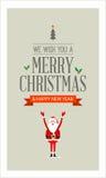 Cartolina di Natale allegra di vettore Immagine Stock