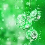 Cartolina di Natale allegra. ENV 8 Fotografia Stock Libera da Diritti