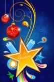 Cartolina di Natale allegra floreale astratta Fotografia Stock Libera da Diritti