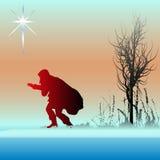 Cartolina di Natale alternativa Fotografia Stock Libera da Diritti
