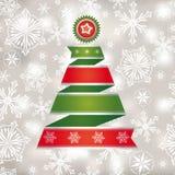 Cartolina di Natale astratta Immagini Stock