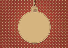 Cartolina di Natale in bianco Fotografia Stock