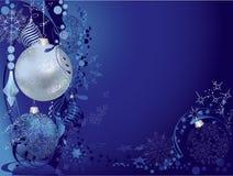 Cartolina di Natale blu illustrazione vettoriale