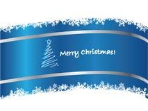 Cartolina di Natale blu 2 Fotografie Stock Libere da Diritti