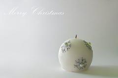 Cartolina di Natale - candela di natale Fotografia Stock