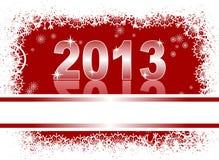 Cartolina di Natale con 2013 Immagine Stock