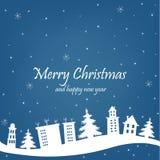 Cartolina di Natale con Immagini Stock
