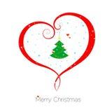 Cartolina di Natale con amore Immagini Stock Libere da Diritti